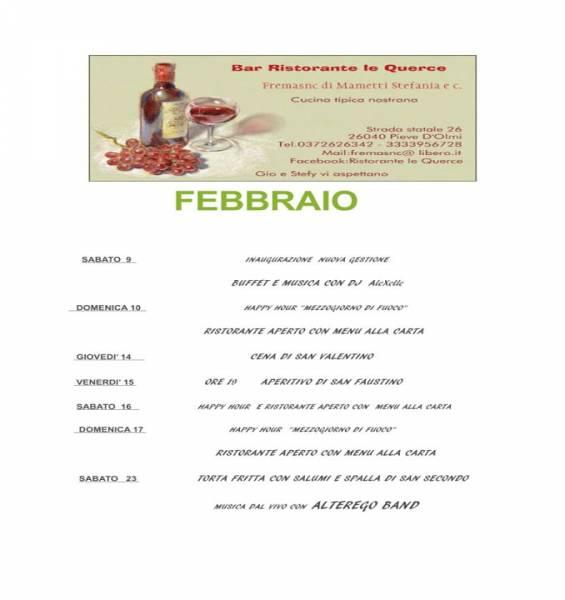 SABATO 2 FEBBRAIO TORTA FRITTA