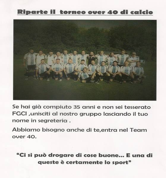 CALCIO OVER 40