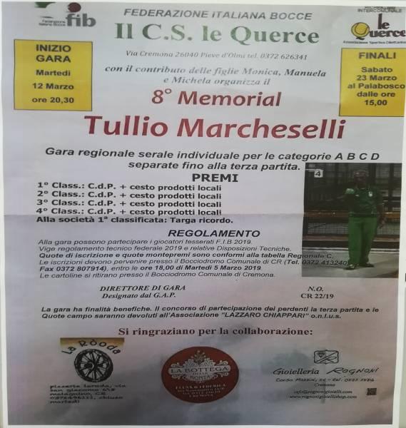 8° MEMORIAL TULLIO MARCHESELLI