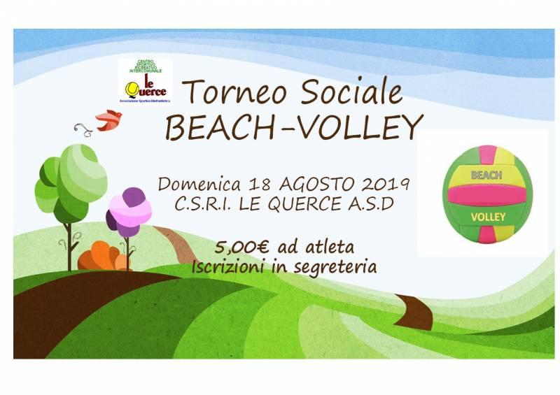 TORNEO SOCIALE DI BEACH - VOLLEY